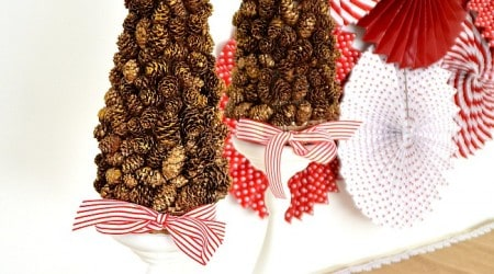 DIY Gold Pinecone Topiary