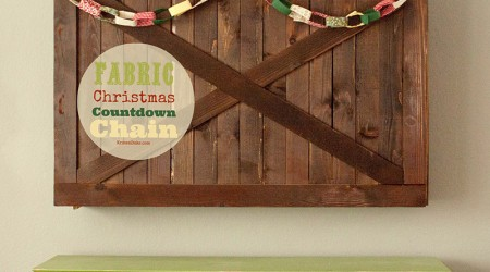 Fabric Christmas Countdown Chain