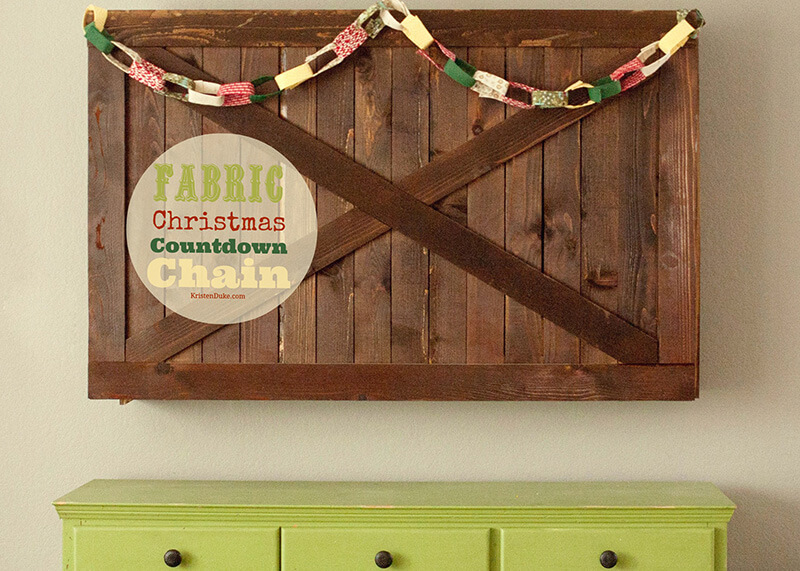 Fabric Christmas Countdown Chain