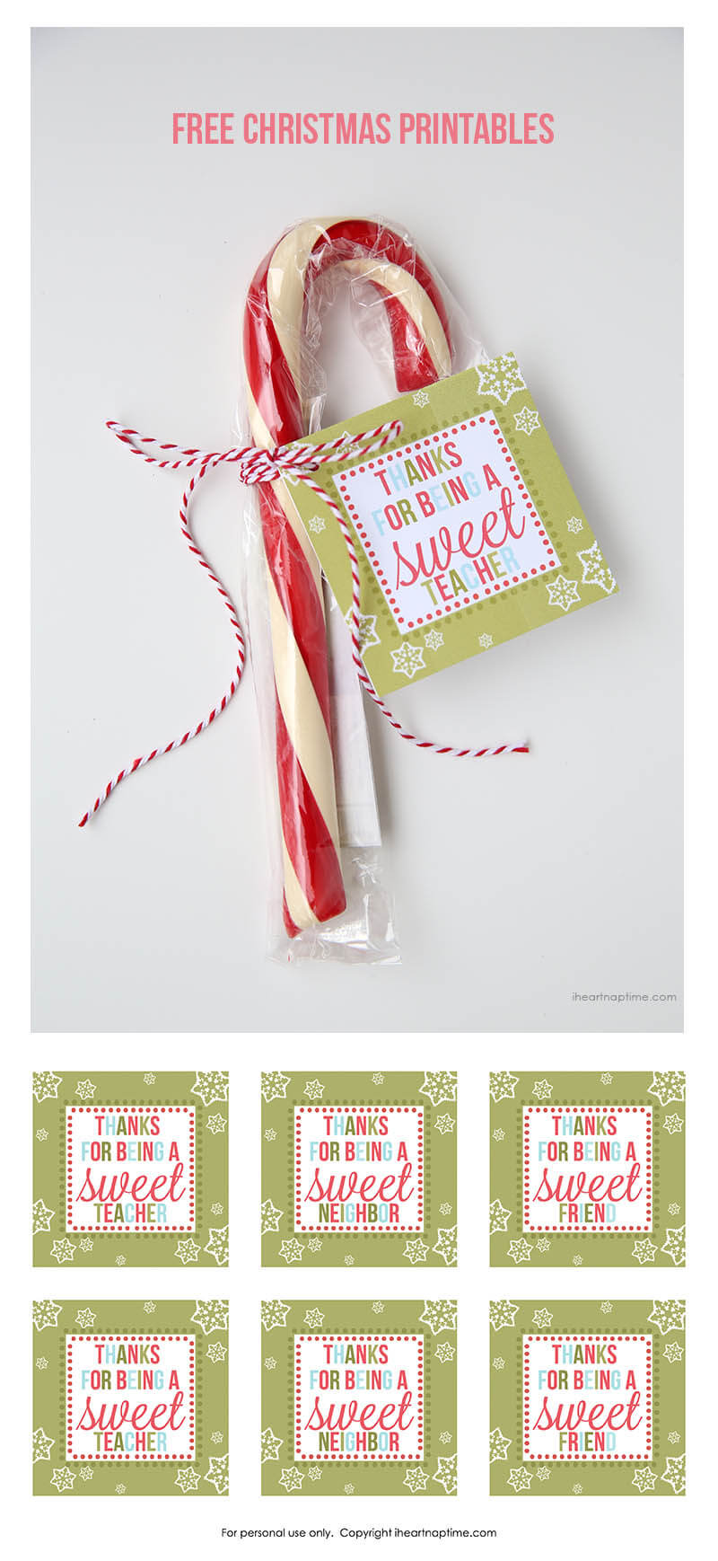 Free Christmas printables on I Heart Nap Time