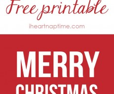 Free printable Merry Christmas tags on iheartnaptime.com