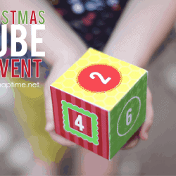 Fun Christmas Cube Advent at I heart naptime