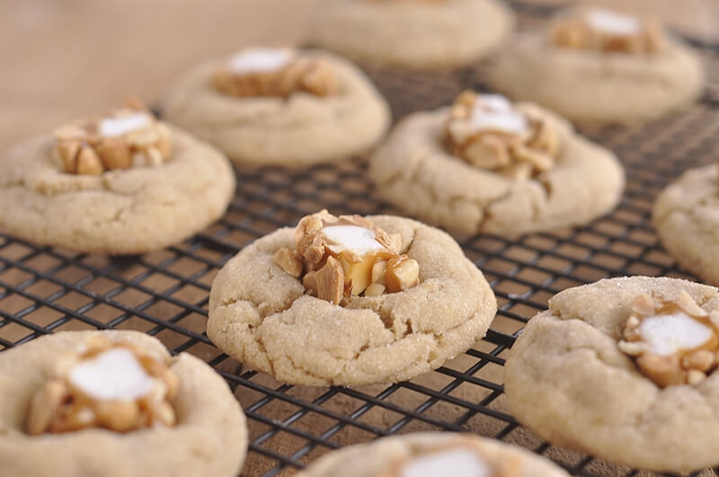 salted peanut butter blossoms