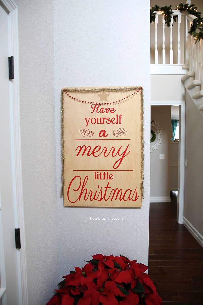 Shutterfly wood wall art with free printable design