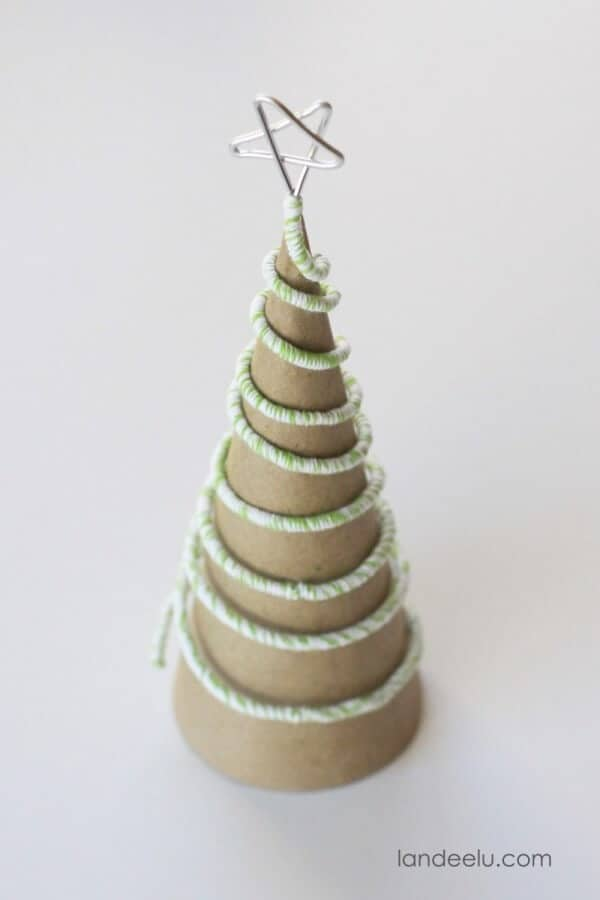 Twine Wrapped Wire Trees