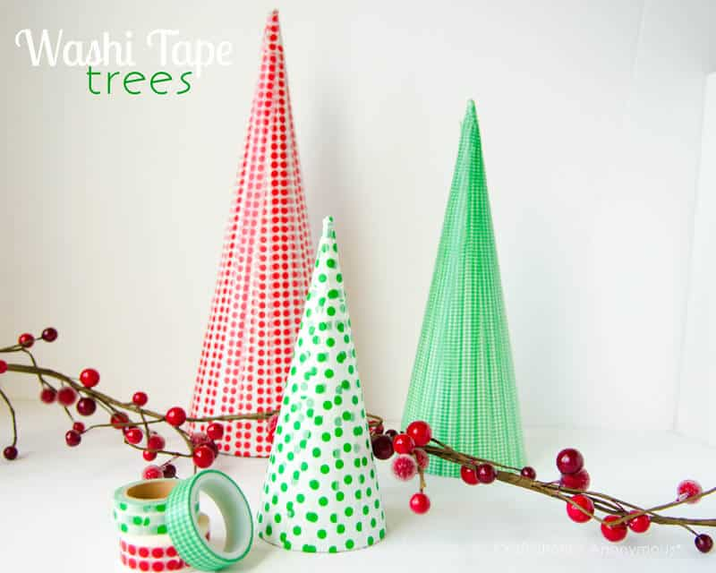 Washi Tape Chrsitmas Trees