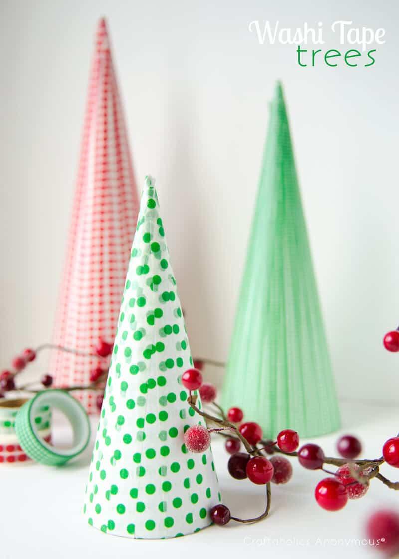 Washi Tape Christmas Trees