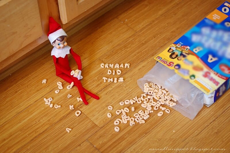 Elf spilled cereal
