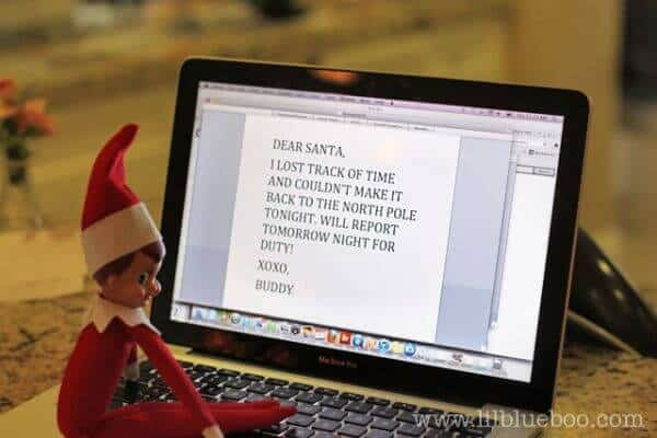 Elf writing a letter to Santa