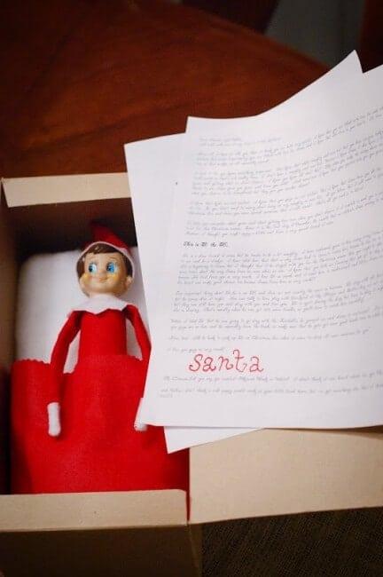 Elf sending a letter