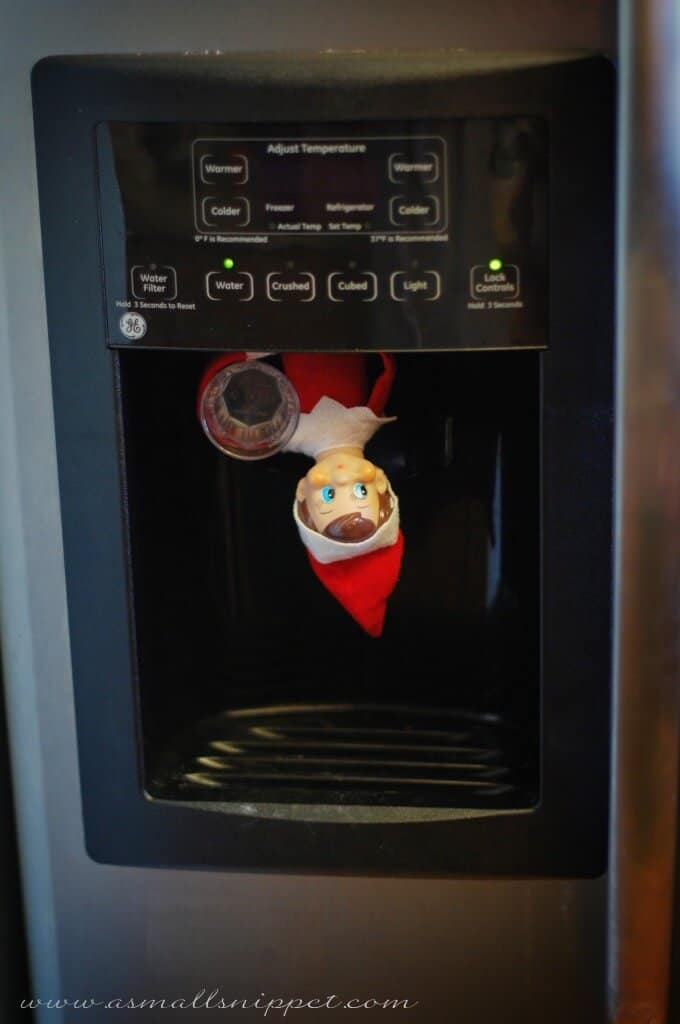 Elf in the water dispenser