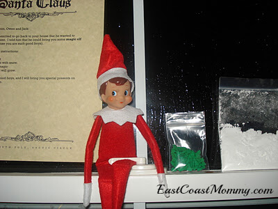 Elf sitting on window seal