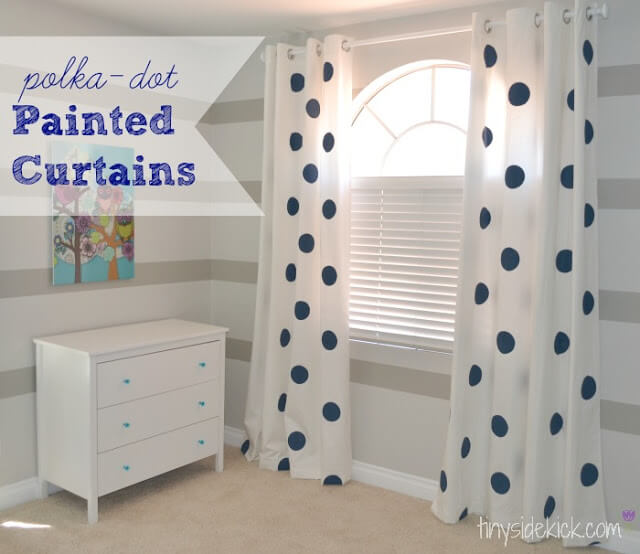 polka+dot+painted+curtain