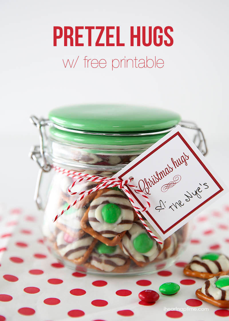 Pretzel hugs gift idea