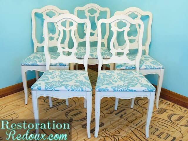 turquoise chair redo