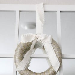 10 minute ribbon wreath