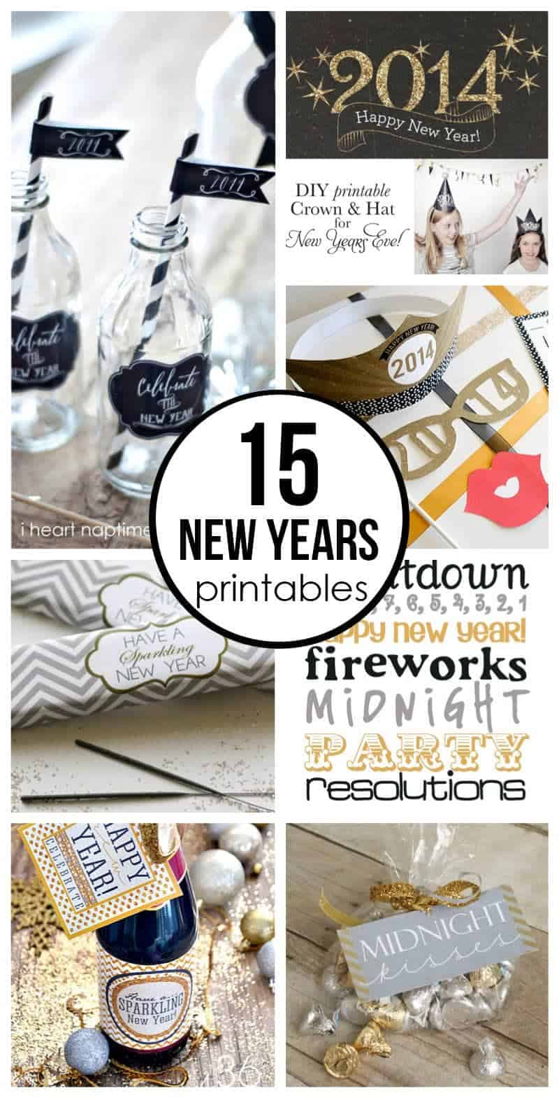15 free New Years Eve printables - I Heart Nap Time