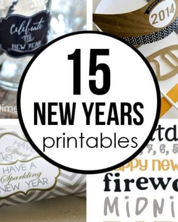 15 new years printables collage