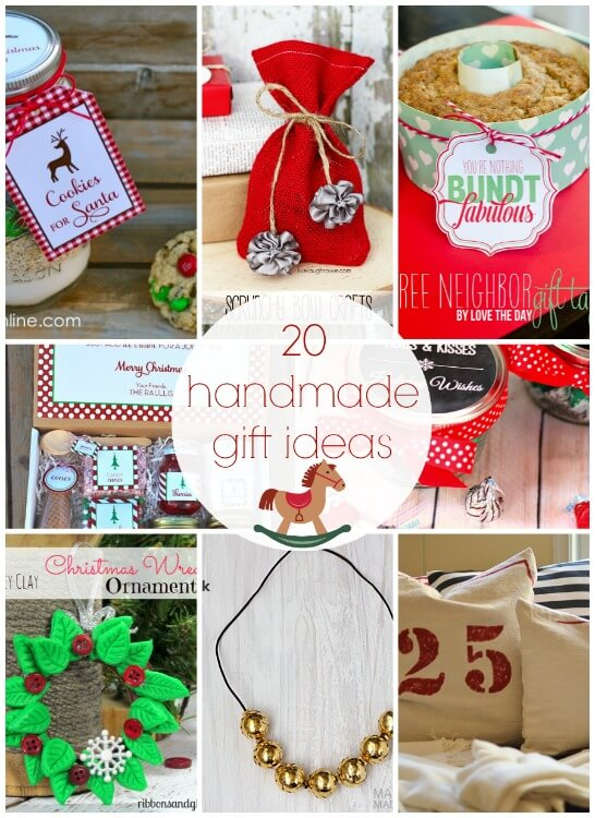 20 handmade gift ideas link party features i heart nap for Christmas present homemade gift ideas