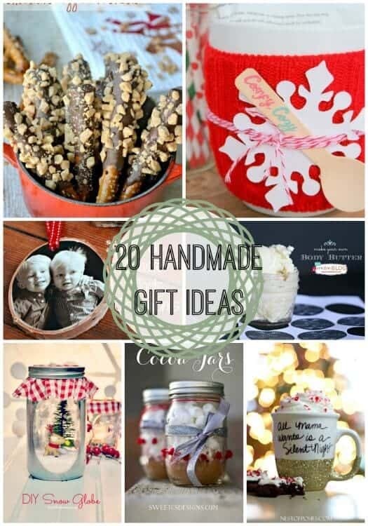 20 last minute handmade gift ideas link party features for Christmas present homemade gift ideas