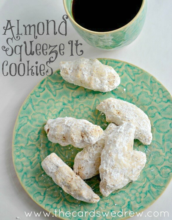 Almond Squeeze-It Cookies from The Cards We Drew--perfect with coffee #HolidayButter #cbias #holidaybaking