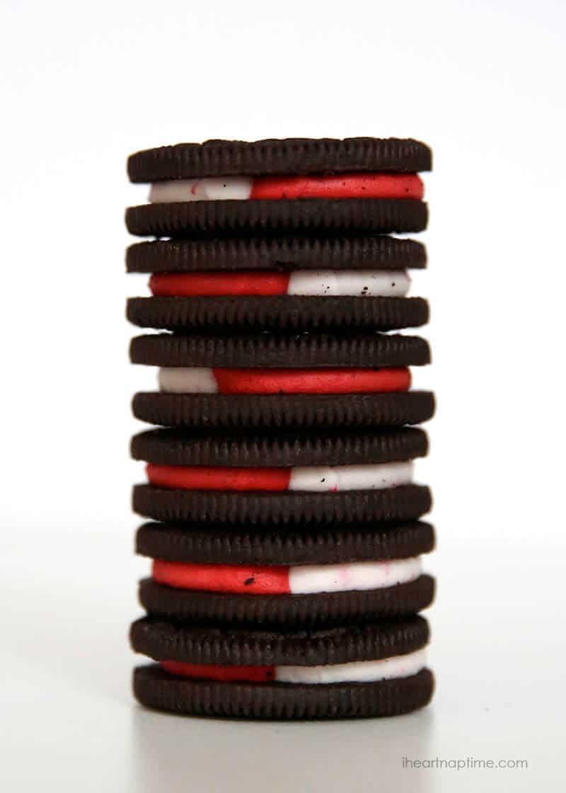 Candy cane OREOS on I Heart Nap Time