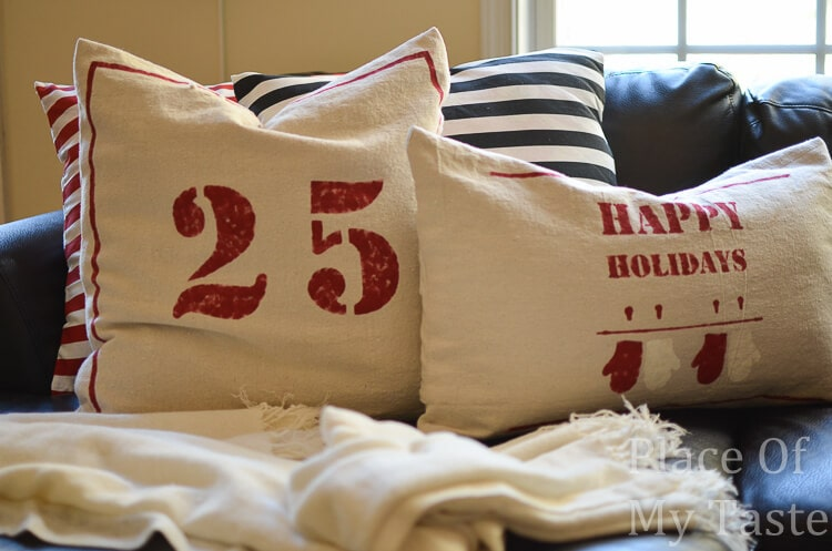 DIY drop cloth pillow cover (13 of 18) & 20 Handmade Gift Ideas Link Party Features - I Heart Nap Time pillowsntoast.com