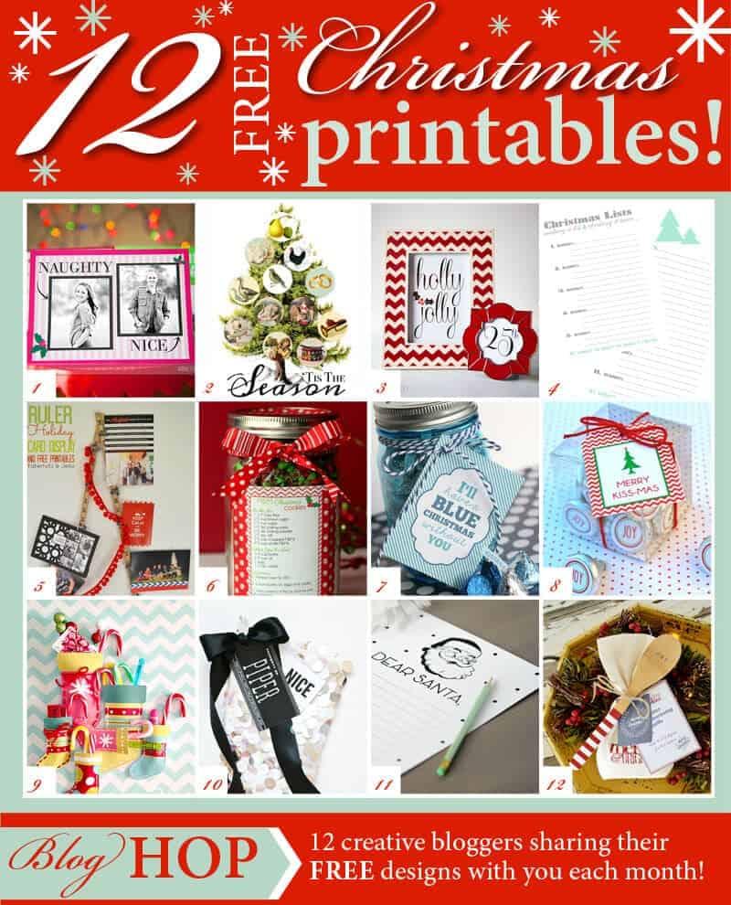 12 Days Of Christmas Printable Gift Tags Merry kiss-mas + 12 free