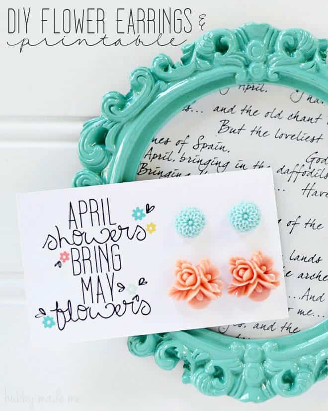diy flower earrings