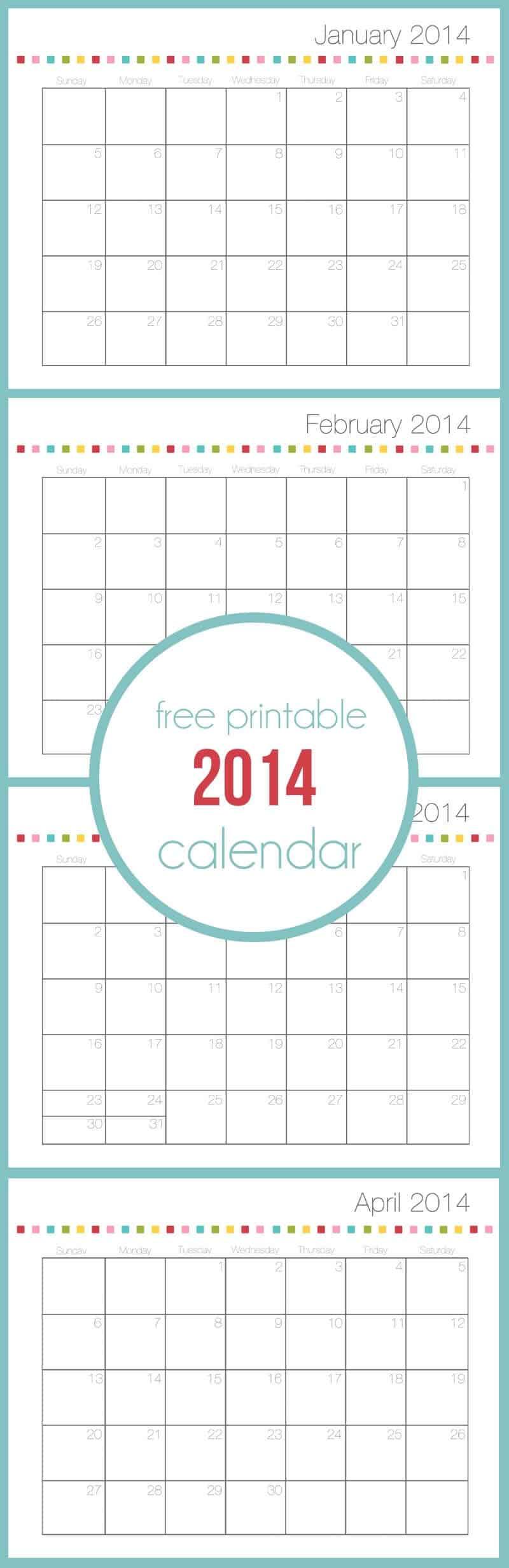 Free printable calendar on iheartnaptime.com