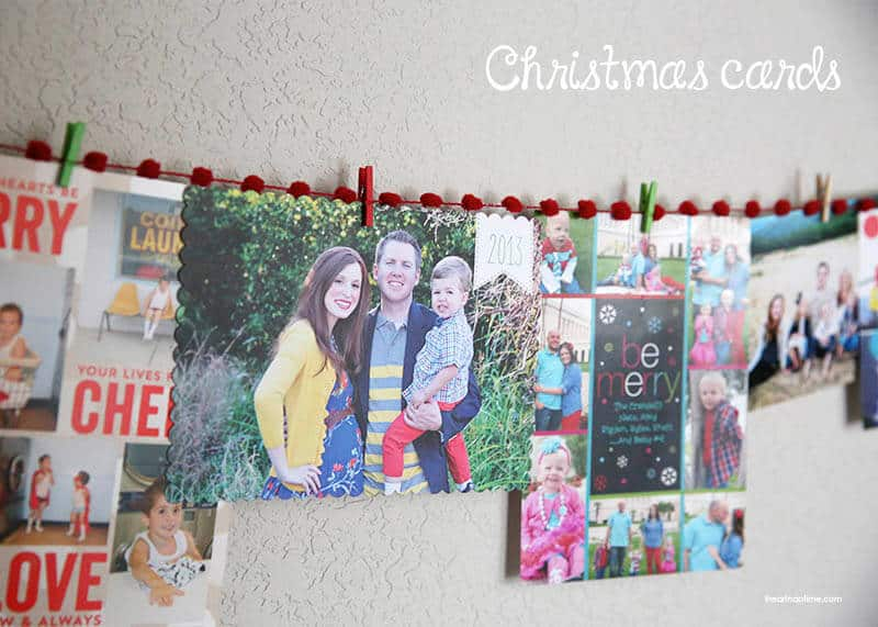 Hanging Christmas cards