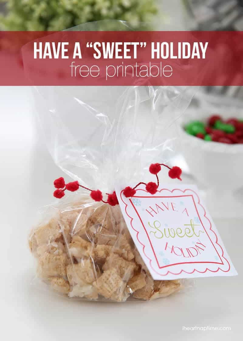 Have a sweet holiday free printable