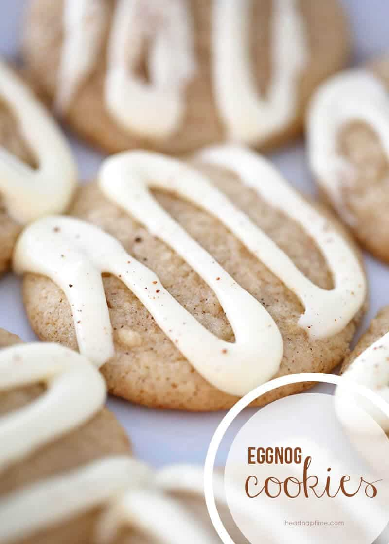 Eggnog cookies with eggnog icing on iheartnaptime.com ...these are super soft and delicious!