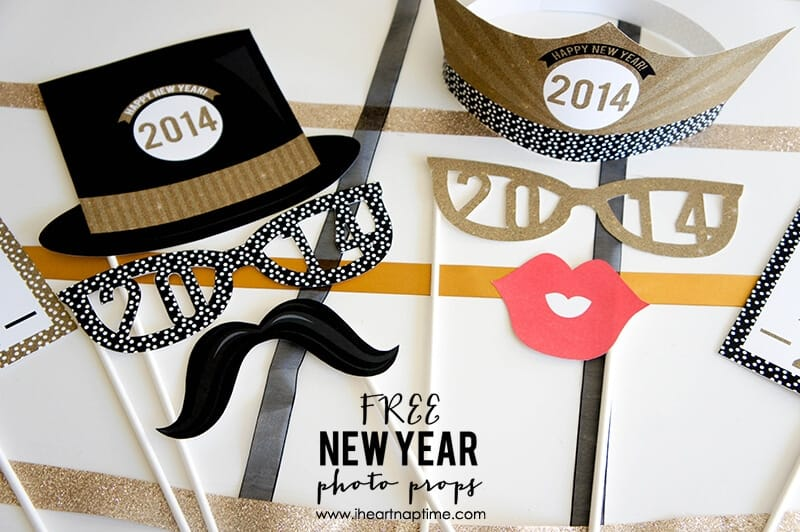 New Year Photo Props - celebrate the new year with friends and family ...