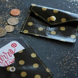Easy Oilcloth Coin Purse - perfect for holding gift cards and small trinkets