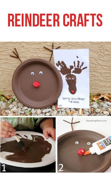 Cute reindeer crafts for kids on iheartnaptime.net