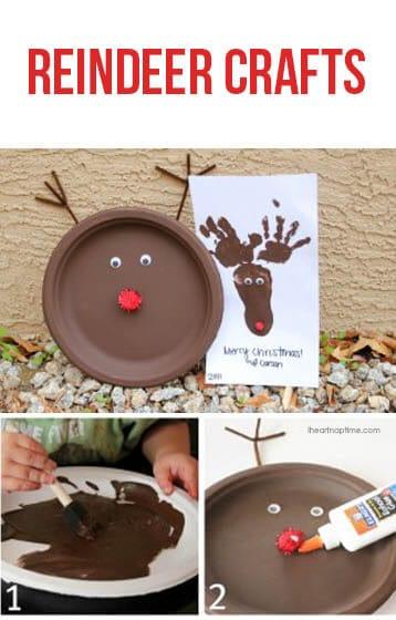 Cute reindeer crafts for kids on iheartnaptime.net