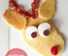 Rudolph pancakes on iheartnaptime.com ...a fun Christmas tradition!