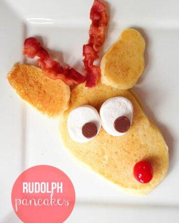 Rudolph pancakes on iheartnaptime.com ...a fun Christmas tradition!