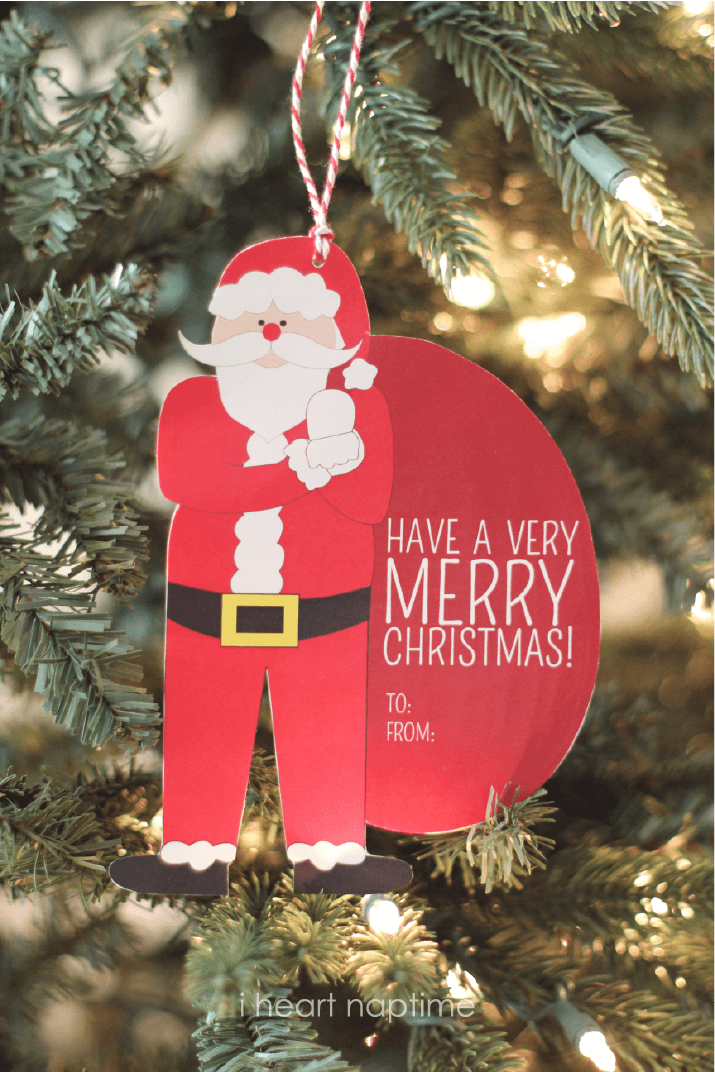 santa money or gift card holder free printable - Christmas Card Money Holder