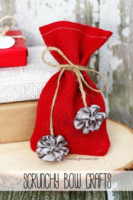 Scrunchy Bow Crafts with livelaughrowe.com
