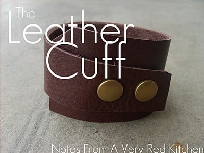 homemade leather cuff