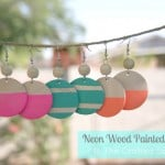 Wood Painted Earrings