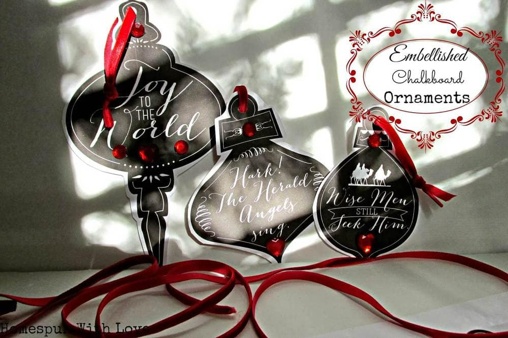 chalkboard embellished ornaments