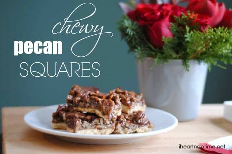 chewy pecan squares