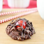 chocolate thumbprint cherry cookies