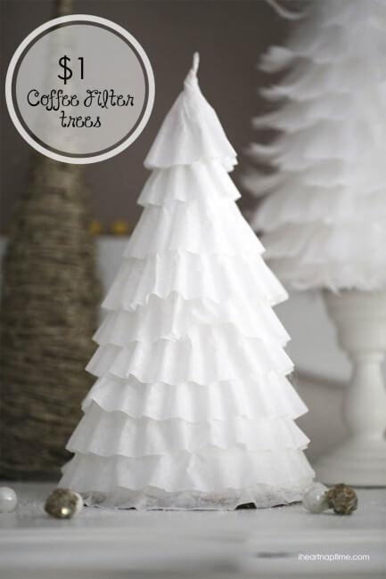 Make these darling coffee filter trees for less than a buck!