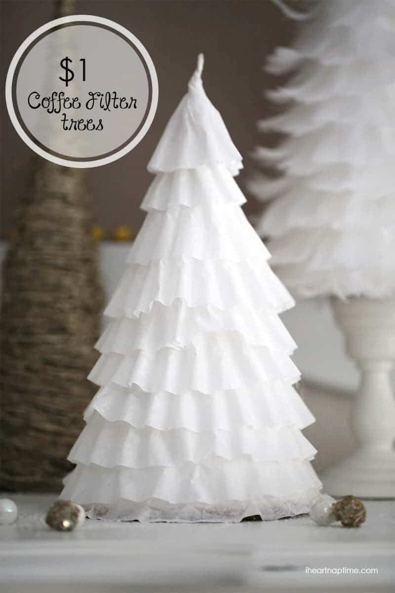 DIY $1 coffee filter trees - I Heart Nap Time