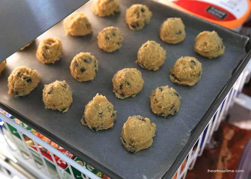 freezing cookie dough