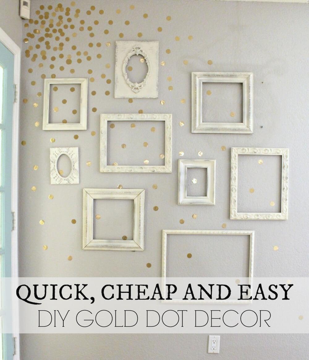 gold confetti wall